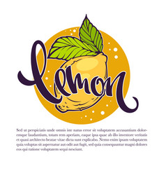 Lemon drinks for your label emblem vector