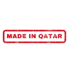 Made in qatar rubber stamp vector