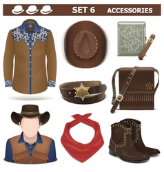 Male Accessories Set 6 vector image vector image