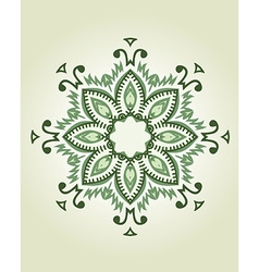 Mandala ethnic indian design vector image