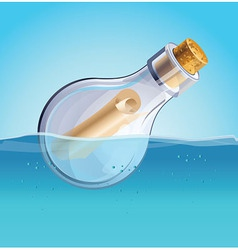 Message in the bottle vector