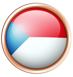 Round badge design for czech republic vector