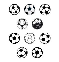 Set of soccer or football balls vector image