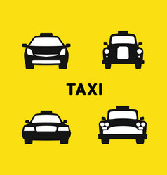 taxi various times vector image