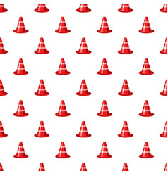 Traffic cone pattern vector