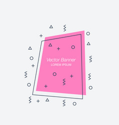 Trendy flat geometric banners vector