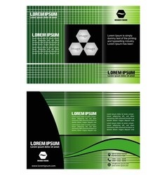 Tri-fold brochure design corporate leaflet vector