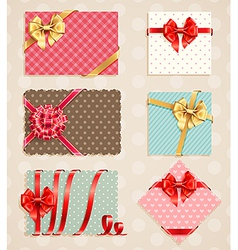 vintage bow collection1 vector image