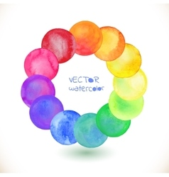 Watercolor rainbow frame vector image vector image