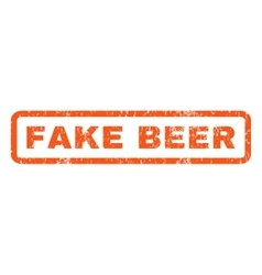 Fake beer rubber stamp vector