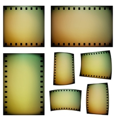 Negative film templates vector