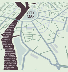 City map perspective vector