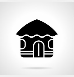 Abstract hut glyph style icon vector