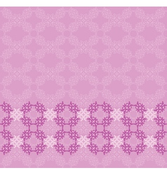 Pink flourish background vector image