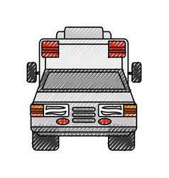 Ambulance medical service vector