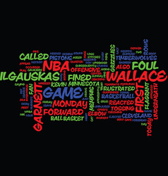 Fine day for the nba text background word cloud vector
