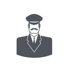 Porter icon concierge sign guard at entrances of vector