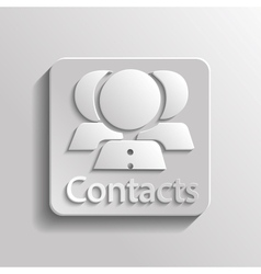 Icon contacts vector