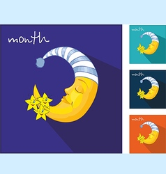 Icons with the moon vector