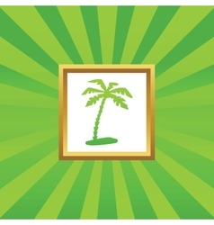 Vacation picture icon vector