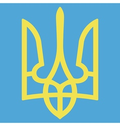 Ukrainian coat of arms vector image