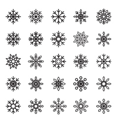 Snowflake symbol graphic crystal frozen vector