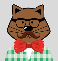 Pet hipster style vector