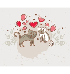 Greeting card love vector