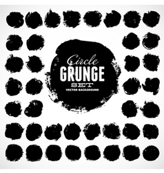 Set of grunge circles vector