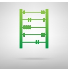 Old retro abacus green icon vector