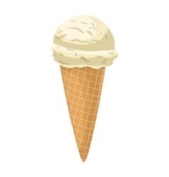 Soft serve ice cream icon cartoon style vector