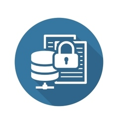 Secure file storage icon flat design vector