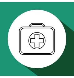 Medical care design health care icon flat vector