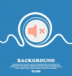 Mute speaker sound sign icon blue and white vector