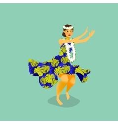 A hawaiian hula dancer woman vector