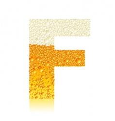 alphabet beer f vector image