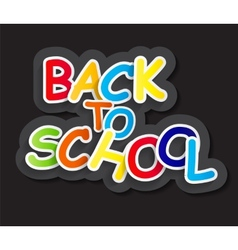 Back to School Concept vector image