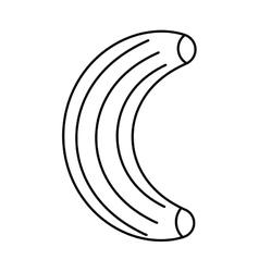 Banana fresh fruit drawing icon vector