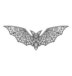 bat coloring page vector image