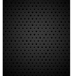 Black metal or plastic texture with holes vector image vector image