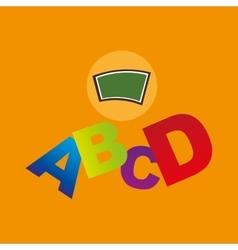 blackboard school icon alphabet vector image