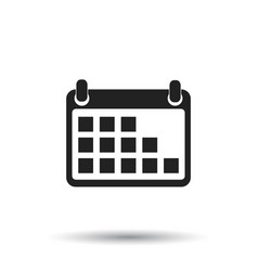 Calendar icon on isolated background flat style vector