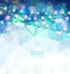 Christmas holiday background with snowflakes snow vector image vector image
