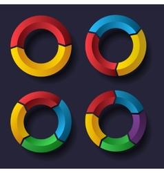 Circle chart set vector image vector image