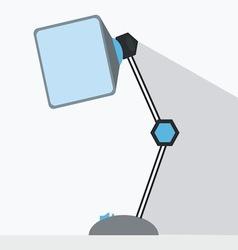 desk lamp vector image