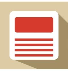 Floppy icon flat style vector