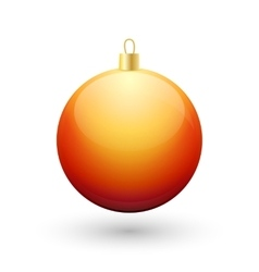 Gradient christmas orange ball vector image vector image