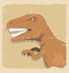 Grunge dinosaur background vector