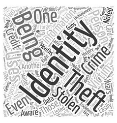 History of identity theft word cloud concept vector