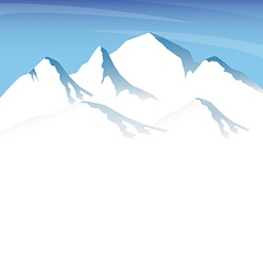 ice mountain vector image